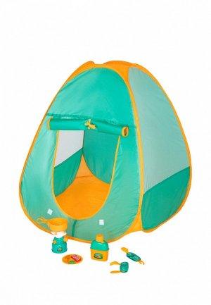 Набор игровой Givito для пикника игровая палатка Туриста  8 предметов. Цвет: бирюзовый