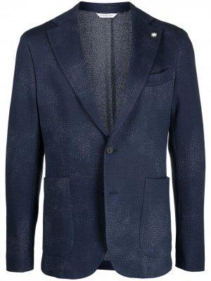 Пиджак из джерси Manuel Ritz. Цвет: синий