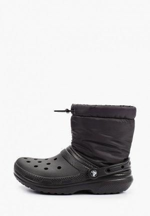 Дутики Crocs. Цвет: черный