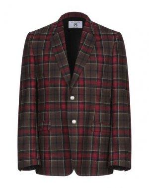 Пиджак ALL APOLOGIES. Цвет: красно-коричневый