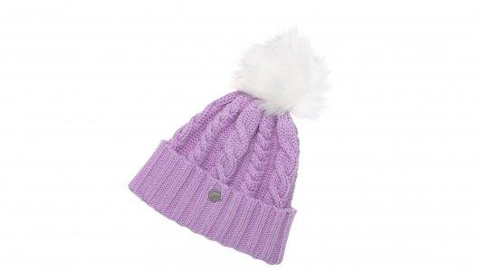 Шапки Womens Lux Knit Pom Beanie New Balance. Цвет: фиолетовый