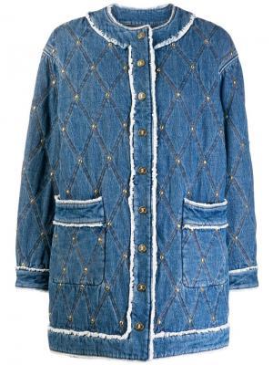 Джинсовая куртка с декоративной строчкой Just Cavalli