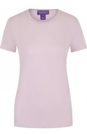 Хлопковая футболка Ralph Lauren. Цвет: лиловый