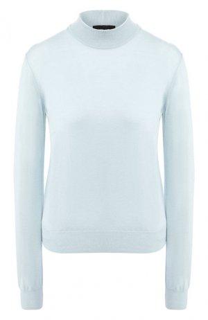 Пуловер из смеси кашемира и шелка Giorgio Armani. Цвет: голубой
