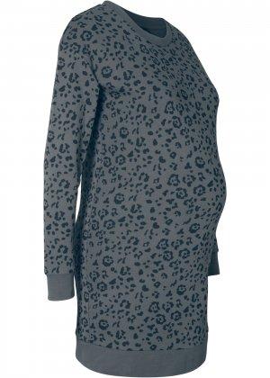 Удлиненный свитшот для беременных bonprix. Цвет: серый