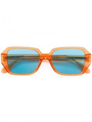 Солнцезащитные очки в квадратной оправе Retrosuperfuture. Цвет: желтый