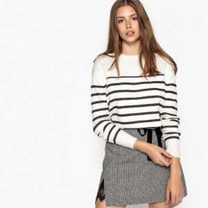 Пуловер в полоску, с круглым вырезом, PETER SUNCOO. Цвет: экрю