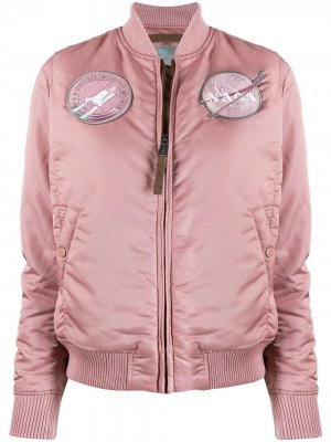 Куртка-бомбер NASA с логотипом Alpha Industries. Цвет: розовый