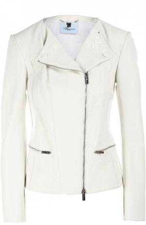 Кожаная куртка Blumarine. Цвет: белый