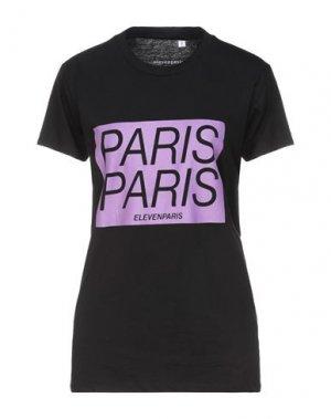 Футболка ELEVEN PARIS. Цвет: черный