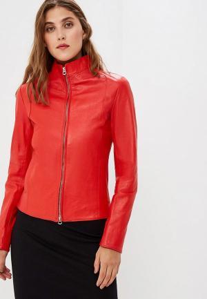 Куртка кожаная Ne.Ra Collezioni. Цвет: красный