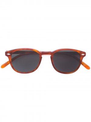 Солнцезащитные очки Lesca. Цвет: желтый