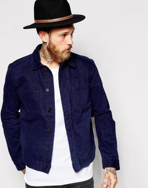 Джинсовая куртка Tait Long Painters Style Waven. Цвет: темно-синий