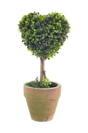 Декор Сердце в горшке Creative. Цвет: зеленый