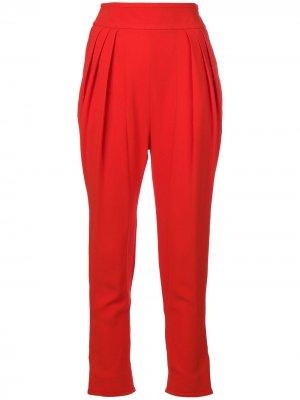 Зауженные брюки Givenchy. Цвет: красный