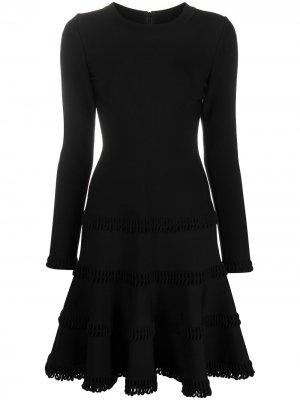 Ярусное платье мини 2000-х годов Alaïa Pre-Owned. Цвет: черный