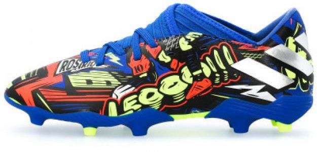 Бутсы для мальчиков adidas Nemeziz Messi 19.3 FG J, размер 36. Цвет: синий