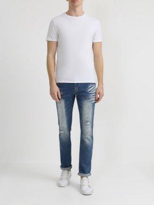 Рваные джинсы Ritter Jeans. Цвет: siniy