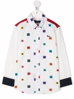 Рубашка с принтом Harmont & Blaine Junior. Цвет: белый