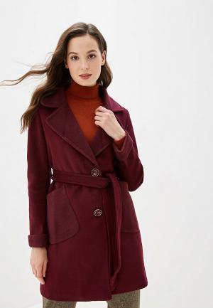 Пальто Marcella. Цвет: бордовый