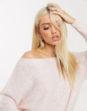 Розовый джемпер с отделкой пайетками Lipsy