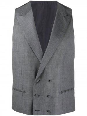 Длинный жилет Canali. Цвет: серый