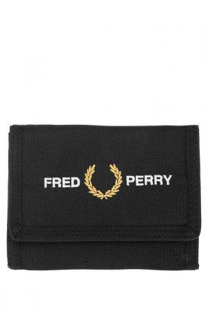 Кошелек Fred Perry. Цвет: черный