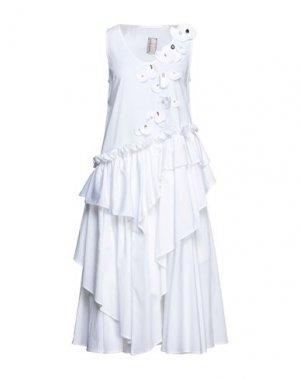 Платье длиной 3/4 ANTONIO MARRAS. Цвет: белый