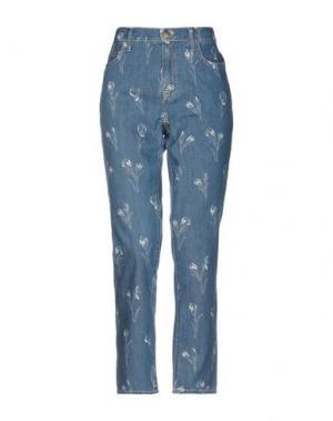 Джинсовые брюки CURRENT/ELLIOTT. Цвет: синий