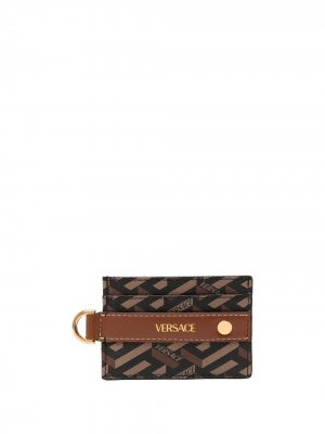 Картхолдер с логотипом Versace. Цвет: коричневый