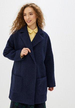 Пальто Imago. Цвет: синий