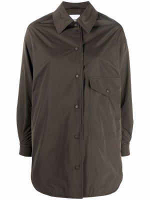 Press-stud fastening shirt coat Aspesi. Цвет: зеленый
