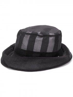 Полосатая шляпа Backet Sunnei. Цвет: черный