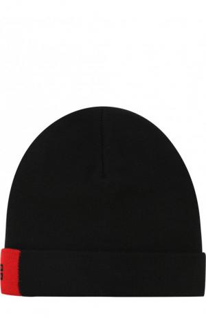 Шерстяная шапка с логотипом бренда Givenchy. Цвет: черный