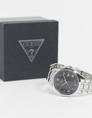 Часы-браслет с черным циферблатом -Серебряный Guess