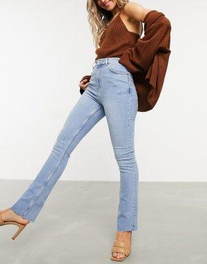 Светлые расклешенные джинсы до щиколотки -Синий ASOS DESIGN