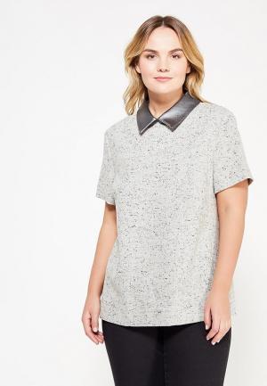Блуза Larro. Цвет: серый