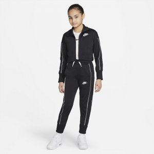 Спортивный костюм с брюками высокой посадкой для девочек школьного возраста Sportswear - Черный Nike