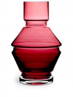 Стеклянная ваза Relæ (26 см) Raawi. Цвет: красный