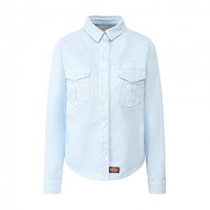 Хлопковая рубашка MARC JACOBS (THE). Цвет: синий