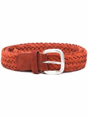 Andersons плетеный ремень Anderson's. Цвет: оранжевый