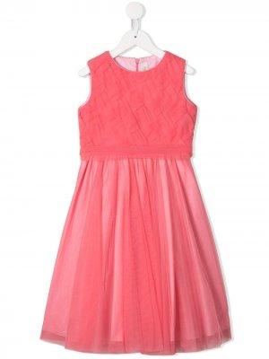 Платье с юбкой из тюля Aletta. Цвет: розовый