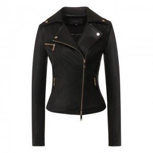 Кожаная куртка Jitrois. Цвет: чёрный