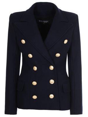 Пиджак двубортный шерстяной BALMAIN