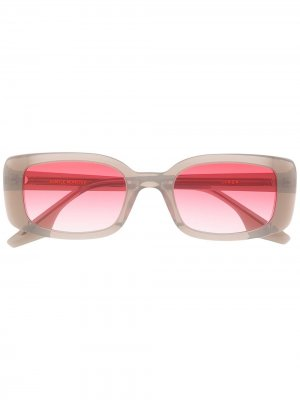 Солнцезащитные очки в квадратной оправе Gentle Monster. Цвет: серый