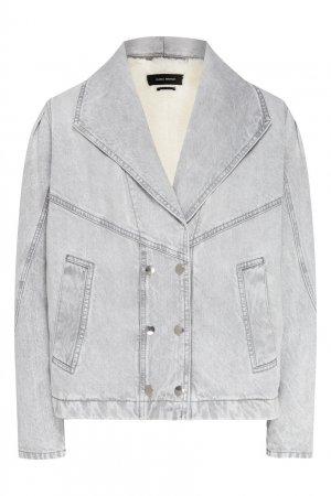 Серая джинсовая куртка Isabel Marant. Цвет: серый