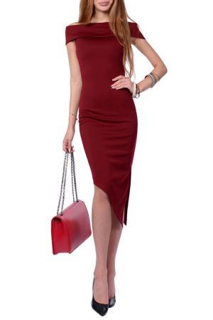 Платье FRANCESCA LUCINI. Цвет: бордовый