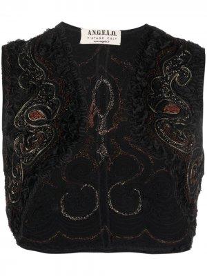 Болеро 1990-х годов без рукавов с вышивкой A.N.G.E.L.O. Vintage Cult. Цвет: черный
