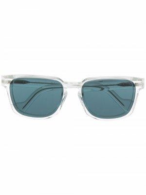 Солнцезащитные очки в квадратной оправе Moncler Eyewear. Цвет: нейтральные цвета