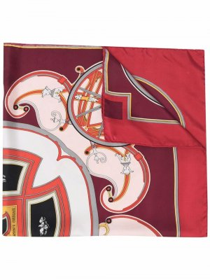Платок Washington Carriage 1981-го года Hermès. Цвет: красный